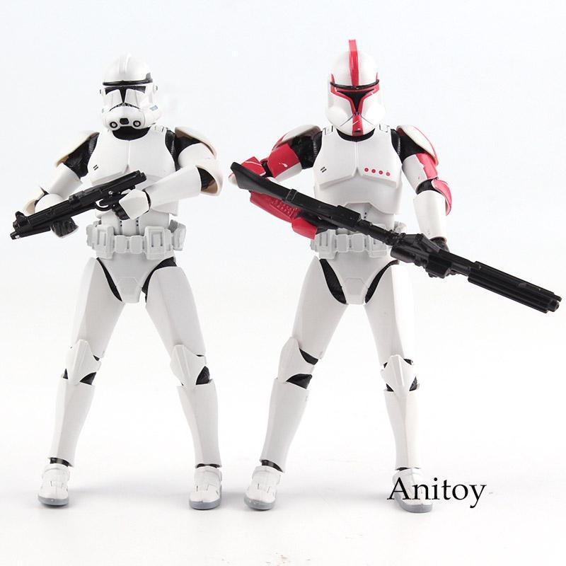 2003 SDCC Star Wars 4/'/' CLONE TROOPER Silver Saga Edition Hasbro New Loose