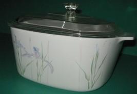 Corning Ware SHADOW IRIS  Casserole A 3 B 3 liter / 3 quart size w/ Pyre... - $22.76