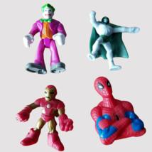 Marvel Mini Action Figures Lot Joker, Spectre, Iron Man, Spiderman DC Su... - $9.49