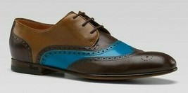 Men Genuine Leather Rounded Toe Multi Tone Fashion Vintage Lace Up Oxford Shoes - $139.90+