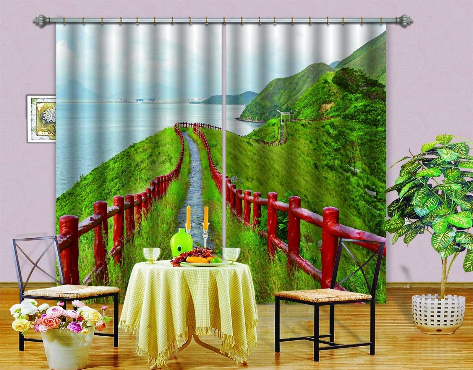 Primary image for 3D Hillside 0503 Blockout Photo Curtain Print Curtains Drapes Fabric Window UK
