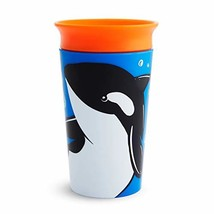 Munchkin Miracle 360 WildLove Sippy Cup, 9 Ounce, Orca, 1 Pack - $7.05
