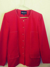 Ladies Sag Harbor RED  suit topper   Jacket Blazer Coat    Size 14     NWOT - $23.76