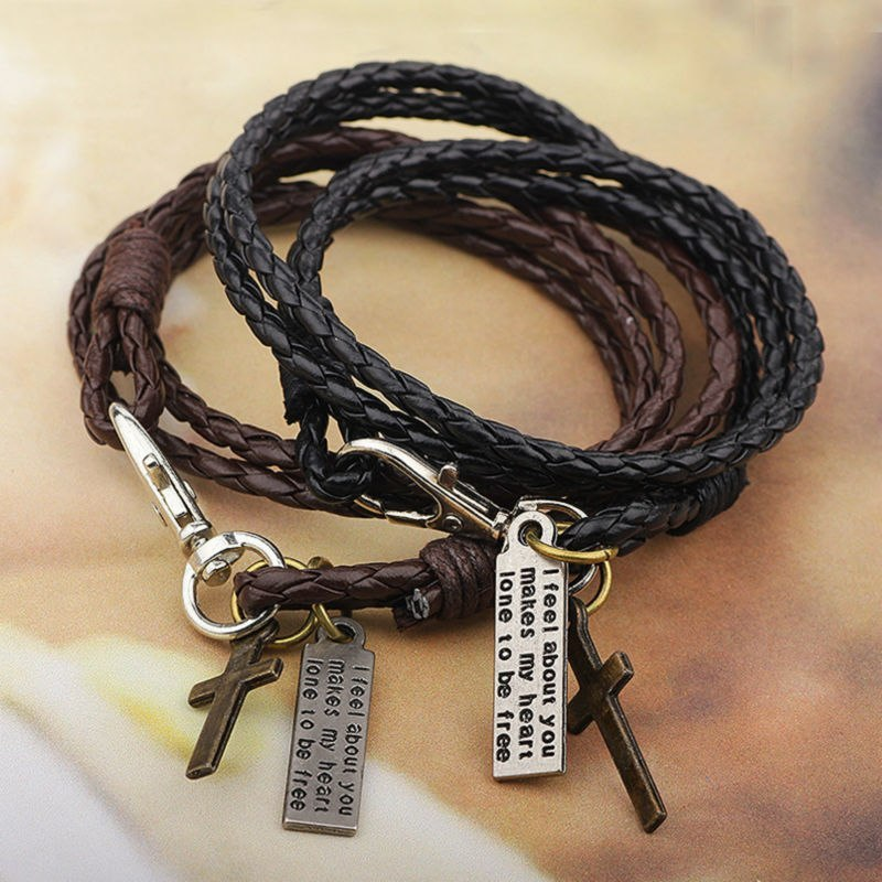 Jewelry Man Cross Bracelet Wristband Charm Braclet For Male Accessories Hand Cuf