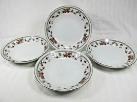 (4) Vintage Sheffield Anniversary Pattern Fine China 6in Dessert Bowls Japan EUC - $19.95