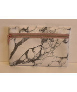 Glam Zippered Cosmetics Bag Only January 2020 Marble Print New - $7.00