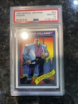 1990 Marvel Universe Kingpin Mint PSA 10 Low Pop Rare Impel MCU? - $4,945.05