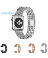 Stainless Steel Bracelet For Apple Watch With Buckle Strap Clip Replacem... - $18.79+