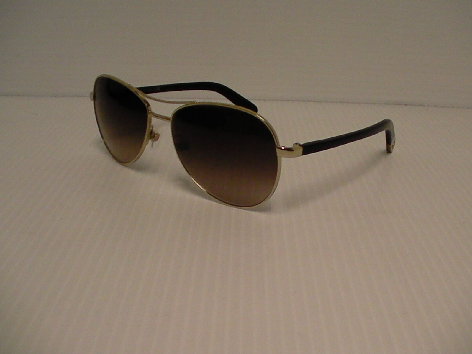 Authentic Chanel 4201 c.395 3B gold brown lenses Aviator Sunglasses 58mm c4f277f17a15