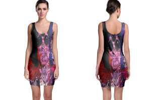 Prince purple memorial bodycon dress
