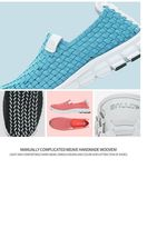 Woven Breathable shoes for casual amp; Handmade Running shoes Unisex Sport Athletic a6wdqOd
