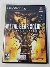 Metal Gear Solid 3: Snake Eater - Playstation 2 PS2 BL Black Label CIB C... - $12.82