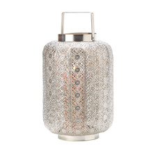 Polished Silver Lace Design Lamp 10015277 - $41.99