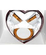 D'Moda Fine Porcelain China Espresso Tea For Two Set  Satin Heart Gift Box - $42.08