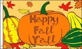Happy Fall Yall 3x5' NEW Autumn Flag - $9.85