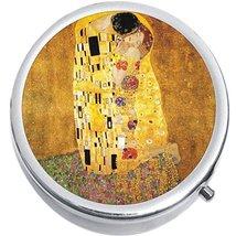 Gustav Klimt The Kiss Medicine Vitamin Compact Pill Box - $9.78
