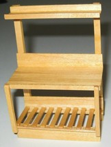 1:12 Scale Mini Garden Potting Table in solid MAPLE wood Artisan-signed ... - £17.80 GBP