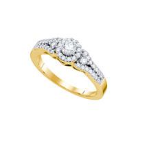 14k Yellow Gold Round Diamond Solitaire Bridal Wedding Engagement Ring 1... - $773.00