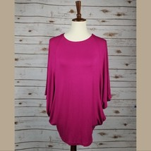 New AZULES size S womens magenta 3/4 batwing sleeves tunic - $9.90
