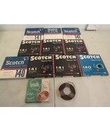 "Vintage Lot of 10 Used 7"" Scotch Recording Tape Reel To Reel Bonus 5"" Reels - $48.61"