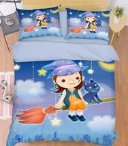 3D Girl Cat 319 Bed Pillowcases Quilt Duvet Cover Set Single Queen King Size AU - $64.32+