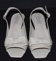 Franco Sarto Héritage Femmes Talons Chaussures en Cuir Beige Taille 6M image 2
