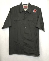 Wrangler Mens M Medium Shirt Gray Button Down Outdoor Quick Dry Short Sl... - $17.34
