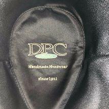 Vintage DPC Authentic cotton linen Black Fedora Hat sz L Handmade Headwear image 5