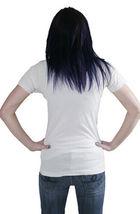 Cardboard Robot Femmes Délavé Blanc Pistolet Épaule Étui Attaché T-Shirt Nwt image 3
