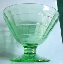 Vintage Green Depression Glass Dessert Custard Berry Bowl - $5.75