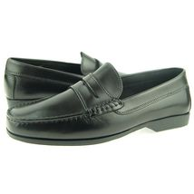 Men Black Color Moccasin Loafer Slip Ons Apron Toe Vintage Leather Class... - $139.90+