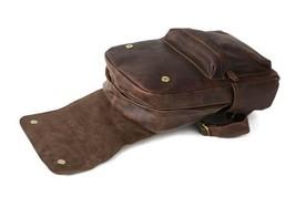 Sale, Vintage Handmade Leather Backpack, Men's Leather Backpack, Travel Backpack image 5