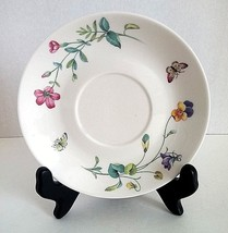 """NANTUCKET HOME BUTTERFLIES AND FLOWERS PRINT 6"""" SAUCER PLATE WHITE PINK ... - $10.56"""