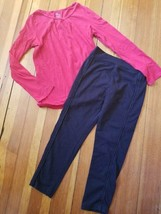 The Children's Place Red Long Sleeve Top 365 Kids Black Leggings Girls Size 7-8 - $5.84