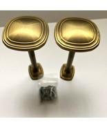 """Kirsch Designer Metal 3"""" Transitional Square Medallion Drapery Holdbacks... - $19.90"""