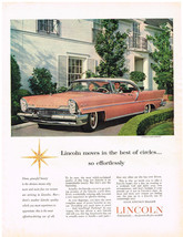 Vintage 1957 Magazine Ad Lincoln Clean Graceful Beauty With Effortless Driving - $5.93