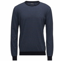 Polo Ralph Lauren Mens Navy Blue Striped Pima Cotton Crewneck Sweater NWT L - $41.82