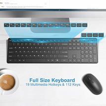 Wireless Keyboard and Mouse Combo, WisFox 2.4G Full-Size Slim Thin Wireless Keyb image 5