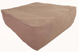 """Box Cushion Cover Solid Polyester 20x20x5"""" Beige with Piping & Zipper - $19.80"""