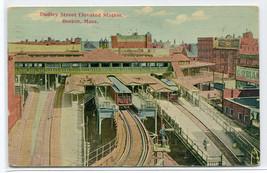Dudley Street Elevated Railroad Transit Station Boston Massachusetts pos... - $6.44