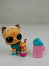 LOL Surprise Doll Glitter Pets Secret Agent Spy Kitty With Accessories - $12.59