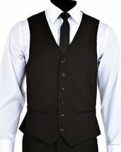 Men's Black Two Button Three Piece Suit image 2