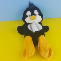 "Build a Bear Plush Unstuffed Penguin 2013 Black White 16"" Blue Eyes - $15.84"