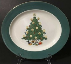"Homer Laughlin Cavalier Eggshell Christmas Tree Oval Platter 13.5"" x 11.... - $34.98"