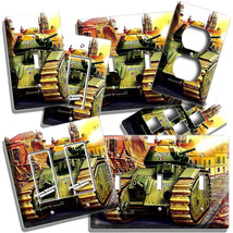 WW2 ART FRENCH MILITARY TANK BOURGUEIL LIGHT SWITCH OUTLET WALL PLATE RO... - $10.99+