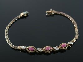 Vintage .925 Sterling Silver Signed PAJ Gold Tone Wheat Chain Bracelet 9.2g - $17.99