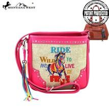 MW277G-8287 Montana West Horse Tassel Cowgirl Concealed Carry Messenger Handbag  - $45.99