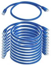 IMBAPrice (10 Pack) Blue 2 Feet (2ft) Molded UTP Cat6 Ethernet Network P... - $37.92