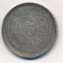 1896 BOLIVIA 50 CENTS SILVER COIN-NICE CIRCULATED BOLIVIAN COIN-SHIPS FR... - $29.95