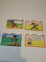 Lot Of 4 Vintage 1990 Upper Deck Looney Tunes Comic Ball Cards - $28.53